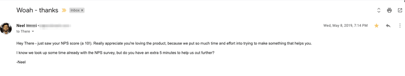 automate nps follow up email