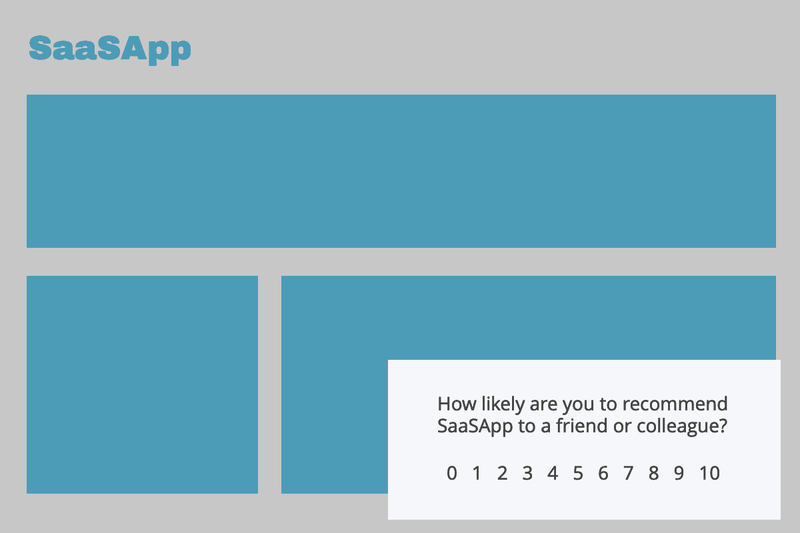 slideout containing in-app nps survey