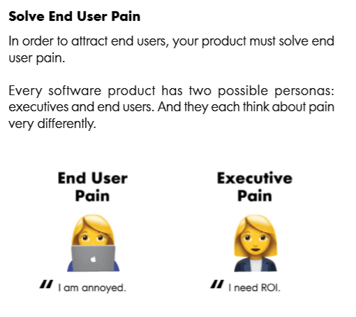 end user pain product led growth