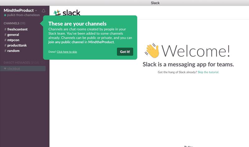 in-app guidance slack