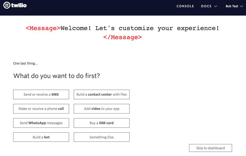 twilio in-app guidance