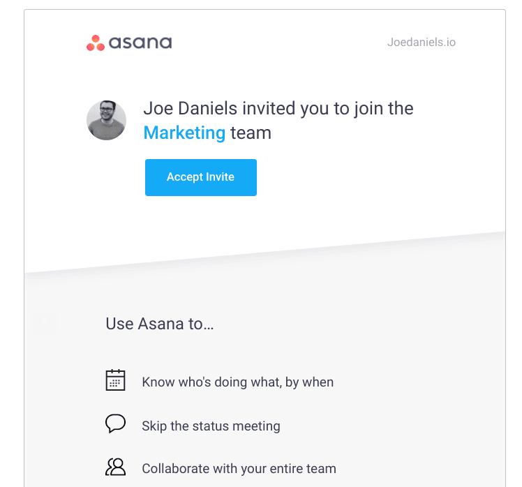 asana onboard invited users