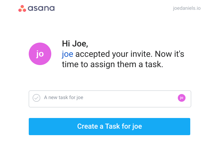 onboard invited users asana example