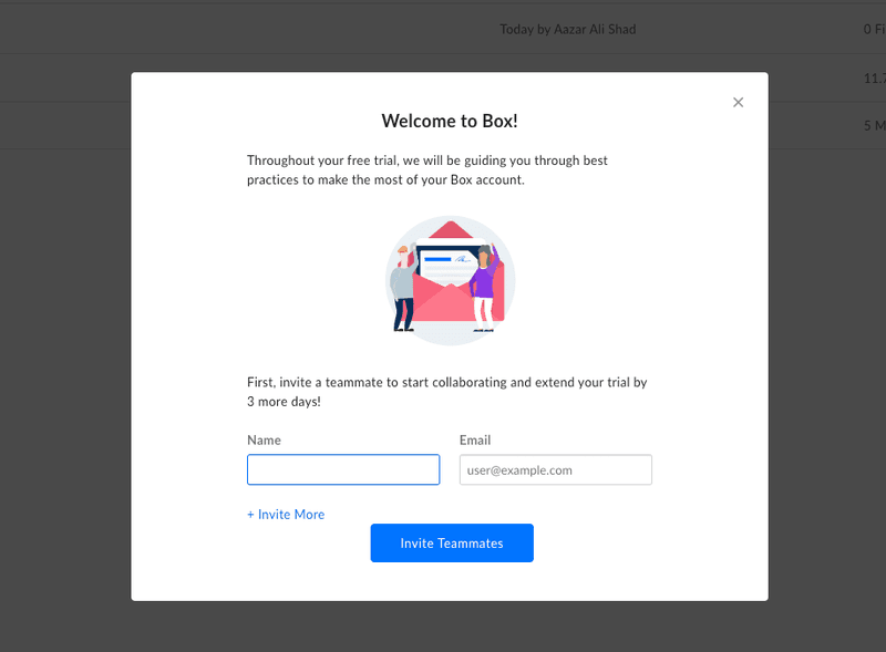 product experience box example
