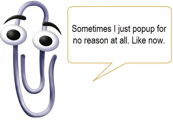 Bad onboarding: Microsoft's Clippy