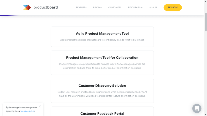Product Board offers roadmap templates on its website
