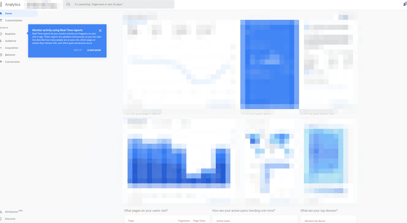 google analytics contextual onboarding