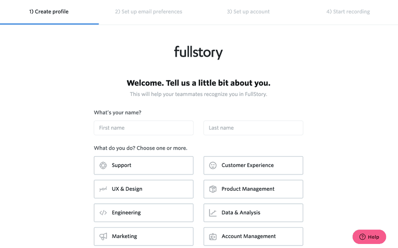 Adjacent users: Fullstory
