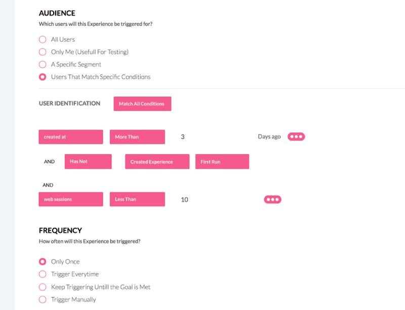 Userpilot audience segmentation