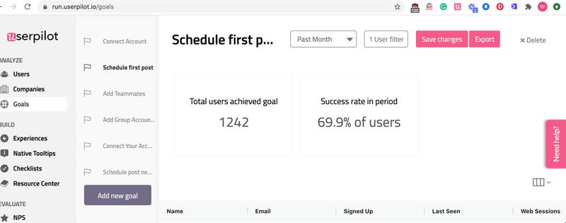 goals userpilot