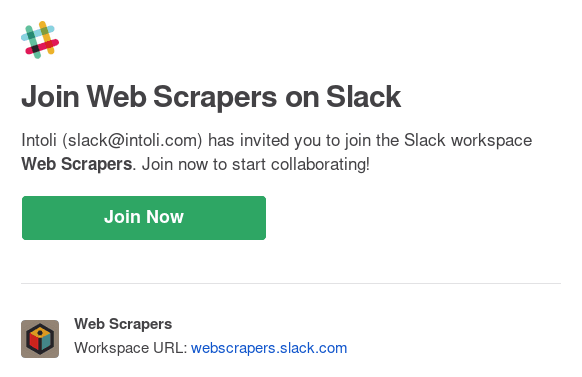 Inviting new users to Slack